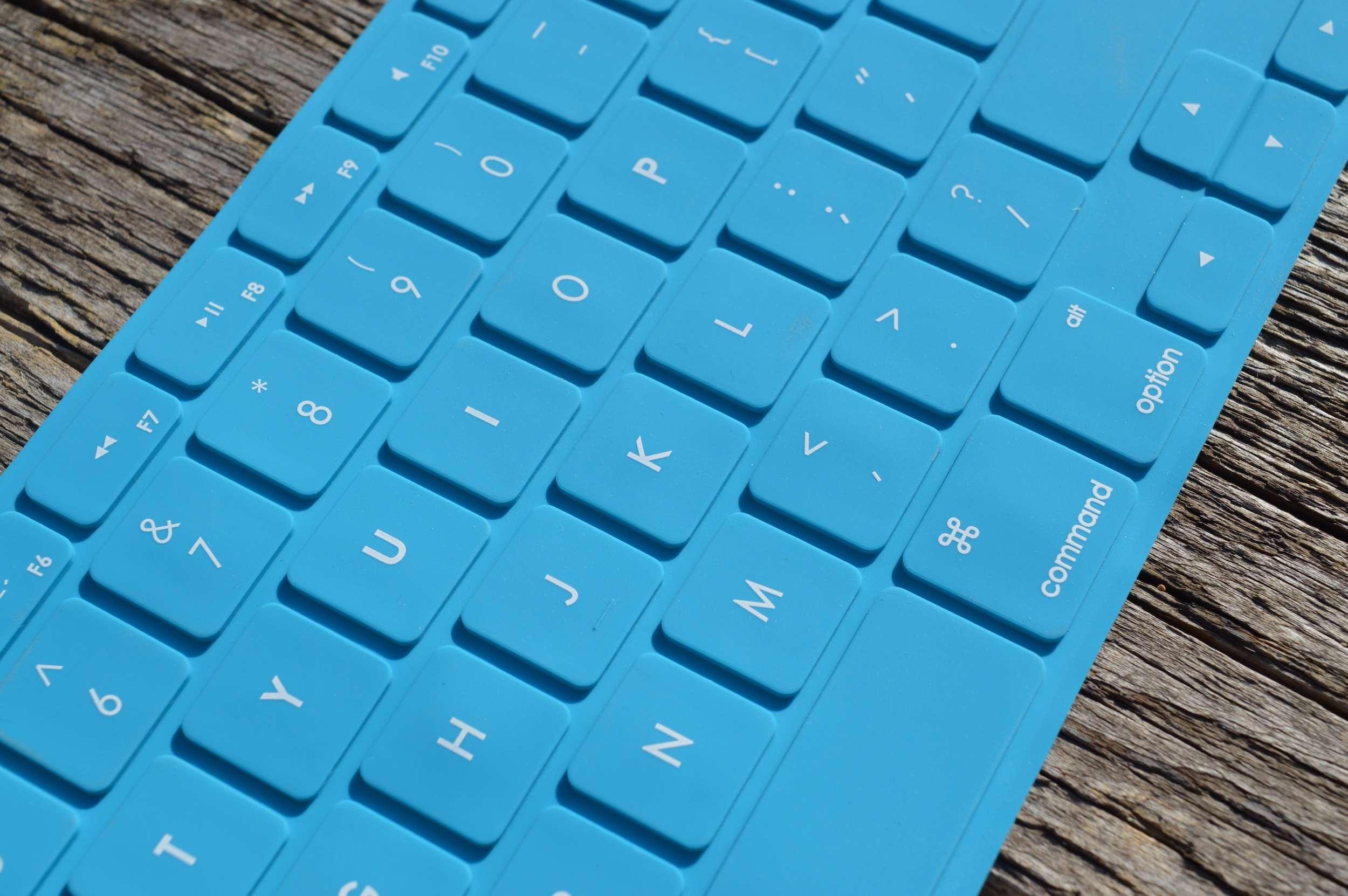 Blue keyboard for Microsoft surface computer